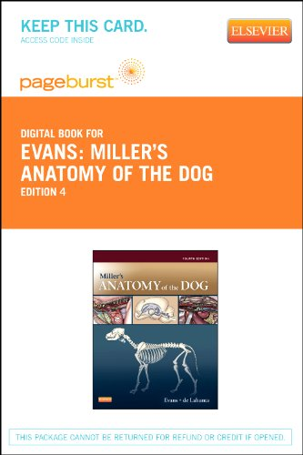 9781455750092: Miller's Anatomy of the Dog - Pageburst E-Book on Vitalsource (Retail Access Card)