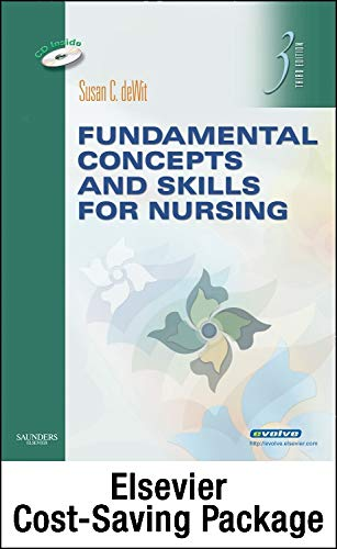 9781455753895: Fundamental Concepts and Skills for Nursing - Text and Virtual Clinical Excursions 3.0 Package, 4e