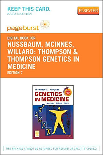 9781455755455: Thompson & Thompson Genetics in Medicine - Elsevier eBook on VitalSource (Retail Access Card)