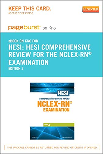9781455759040: HESI Comprehensive Review for the NCLEX-RN Examination - Elsevier eBook on Intel Education Study (Retail Access Card), 3e (Pageburst (Access Codes))