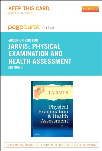 9781455759064: Physical Examination and Health Assessment - Elsevier eBook on Intel Education Study (Retail Access Card), 6e
