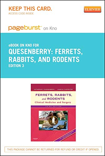 9781455770397: Ferrets, Rabbits and Rodents - Elsevier eBook on Intel Education Study (Retail Access Card): Clinical Medicine and Surgery