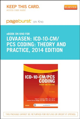 9781455774661: ICD-10-CM/PCS Coding: Theory and Practice, 2014 Edition - Elsevier eBook on Intel Education Study (Retail Access Card), 1e