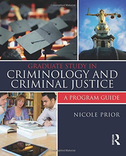 9781455775552: Graduate Study in Criminology and Criminal Justice: A Program Guide