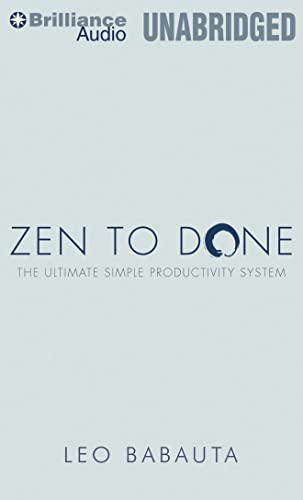9781455831883: Zen to Done: The Ultimate Simple Productivity System
