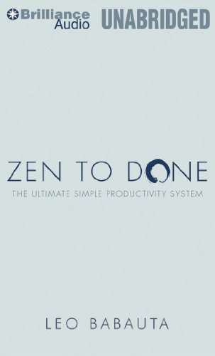 9781455840168: Zen to Done: The Ultimate Simple Productivity System