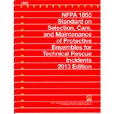 9781455906048: NFPA 1855 Standard for Selection, Care, and Maintenance of Protective Ensembles for Technical Rescue Incidents, 2013 Edition
