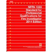 9781455907274: NFPA 1033: Standard for Professional Qualifications for Fire Investigator, 2014 Edition
