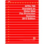 9781455909117: NFPA 750 Standard on Water Mist Fire Protection Systems, 2015 Edition
