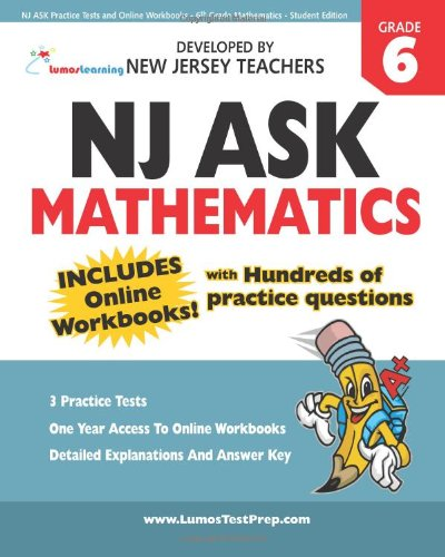 9781456349523: NJ ASK Practice Tests and Online Workbooks - 6th Grade Mathematics - Student Edition: Developed by Expert Teachers