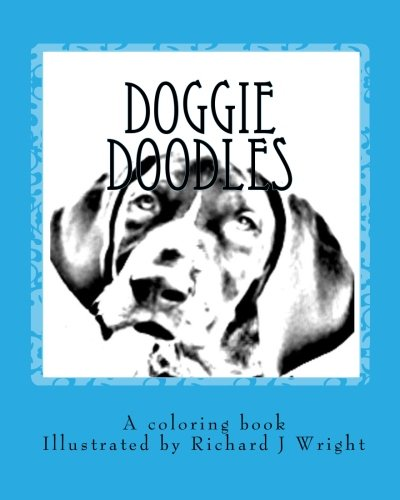 9781456457600: Doggie Doodles: A picture and coloring book of dog breeds.