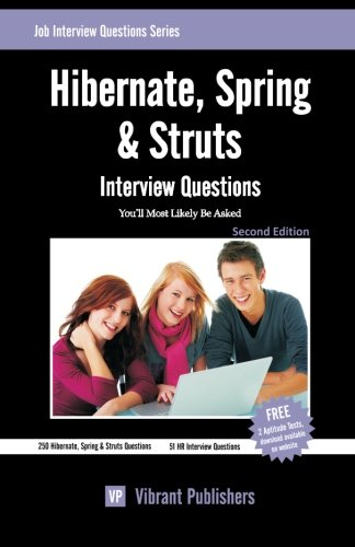 9781456518387: Hibernate, Spring & Struts Interview Questions You'll Most Likely Be Asked