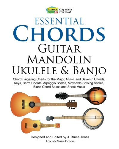 9781456595135: Essential Chords, Guitar, Mandolin, Ukulele and Banjo ...