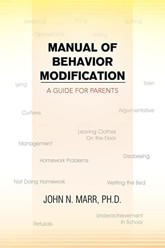 9781456827014: Manual of Behavior Modification