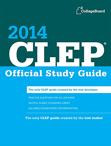 9781457300325: CLEP Official Study Guide 2014 (College Board CLEP: Official Study Guide)