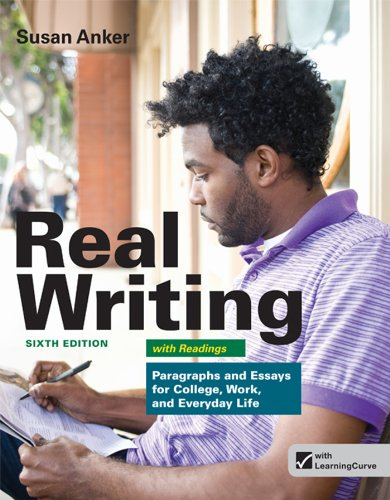 9781457601996: Real Writing with Readings: Paragraphs and Essays for College, Work, and Everyday Life