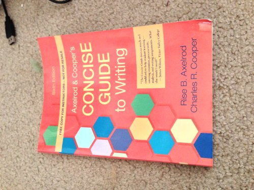 9781457602351: Axelrod and Cooper's Concise Guide to Writing