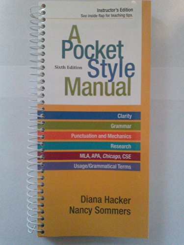 9781457602399: A Pocket Style Manual - Instructor's Edition (Sixth Edition)