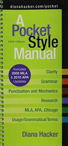 9781457603471: Pocket Style Manual 5e With 2009 Mla and 2010 Apa Updates + Apa Quick Reference Card