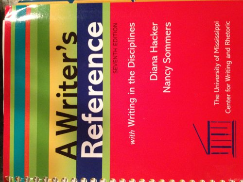 9781457604133: Writer's Reference 7e Custom Edition for the University of Mississippi