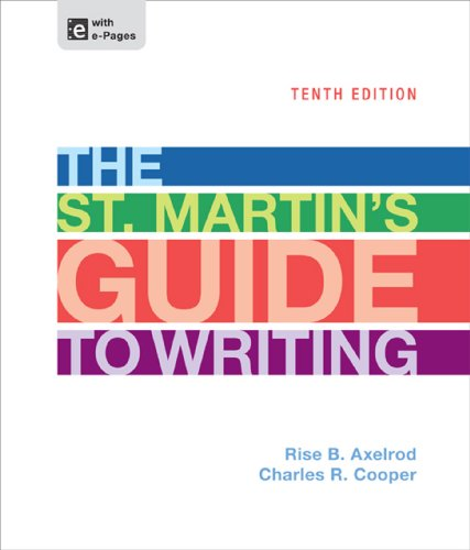 9781457604423: The St. Martin's Guide to Writing