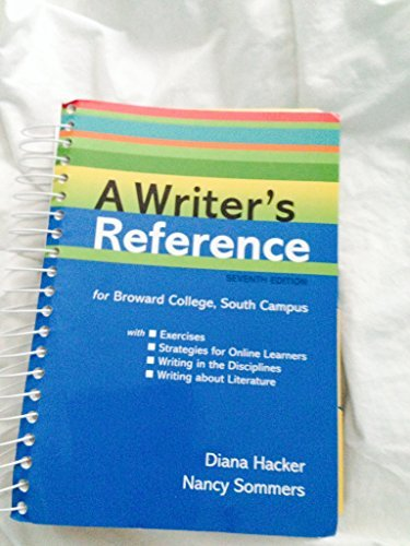9781457605307: A Writer's Reference (custom edition for Broward college, south Campus)