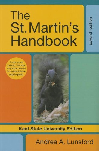 9781457605314: The St. Martin's Handbook, Kent State University Edition