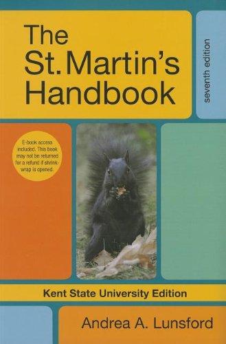 9781457605314: The St. Martin's Handbook, Kent State University Edition