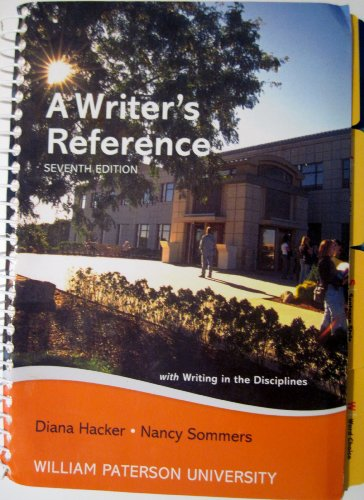 9781457605925: A Writer's Reference (WITH WRITING IN THE DISCIPLINES)