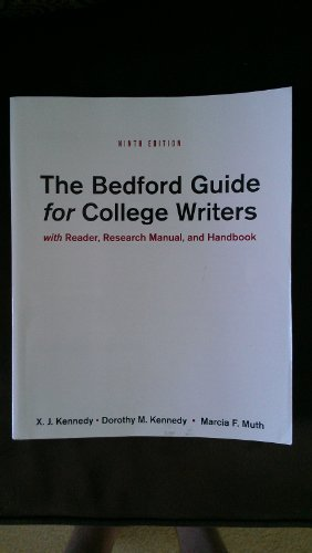 9781457606885: Title: BEDFORD GDE.F/COLLEGE WRITERS