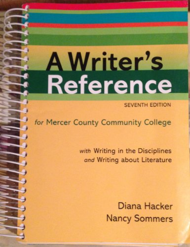 A Writer's Reference (with WRITING IN THE: DIANA HACKER &