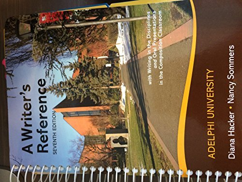 A Writer's Reference Adelphi University (with writing in the Disciplines and Oral Presentations...