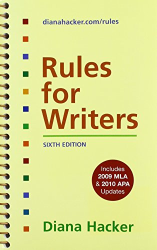 9781457614620: Rules for Writers Research Pack: Includes 2009 Mla & 2010 2010 Pap Updates