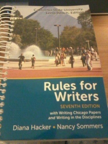 9781457620355: Rules for Writers CSULB Edition