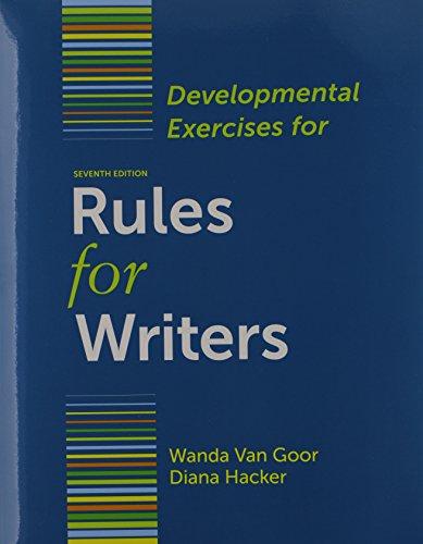 9781457620621: Rules for Writers 7e & Developmental Exercises