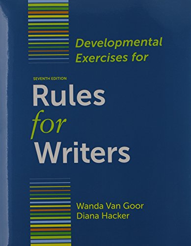 9781457620621: Rules for Writers 7e & Developmental Exercises
