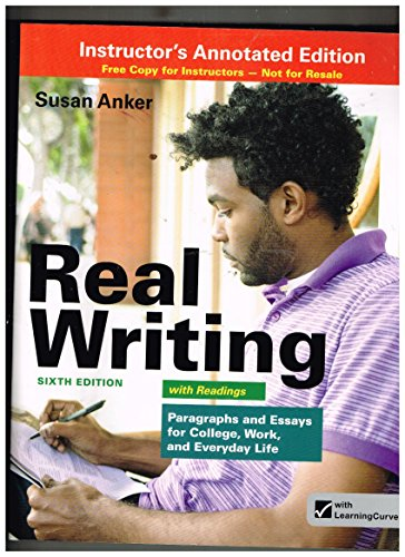9781457623967: REAL WRITING W/READINGS >INSTR