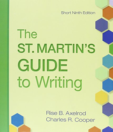 St. Martin's Guide to Writing 9e Short & Writer's Reference 7e & CompClass for A ...