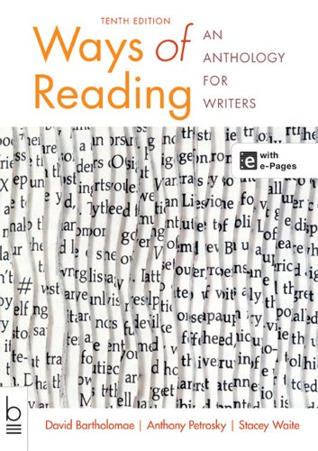 Ways of Reading : An Anthology for: Stacey Waite; Anthony