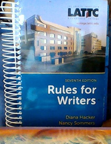 9781457627354: Rules for Writers, Seventh Edition