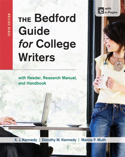 9781457631047: the bedford guide for college writers with reader.