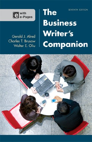 The Business Writer's Companion: Alred, Gerald J.;