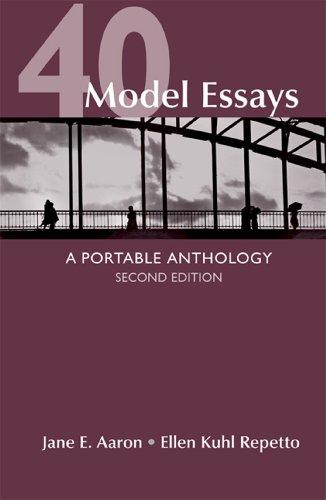 9781457638428: 40 Model Essays: A Portable Anthology
