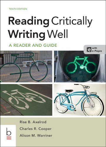 Reading Critically, Writing Well: Warriner, Alison M.,