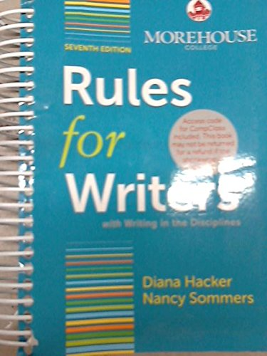 9781457640100: Rules for Writers (Morehouse College)