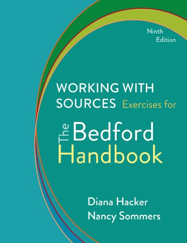 9781457650574: Working with Sources: Exercises for The Bedford Handbook