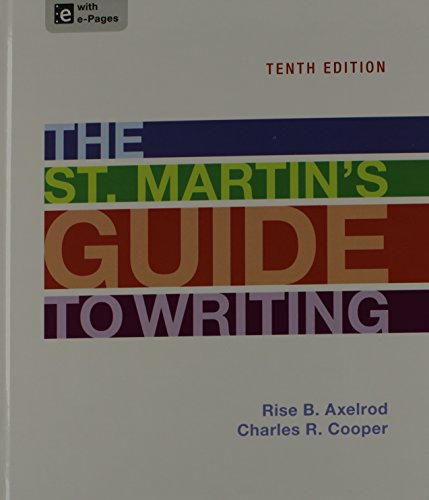 st martin s guide to writing chapter 1 intro to writing Study the st martin's guide to writing discussion and chapter questions and find the st martin's guide to writing study guide questions and answers.
