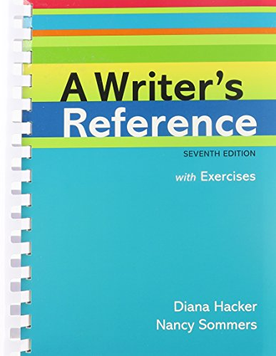 Writer's Reference with Exercises 7e & LearningCurve for A Writer's Reference 7e (Access Card) (1457654474) by Hacker, Diana; Sommers, Nancy