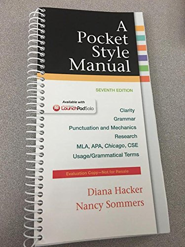 9781457663093: A Pocket Style Manual