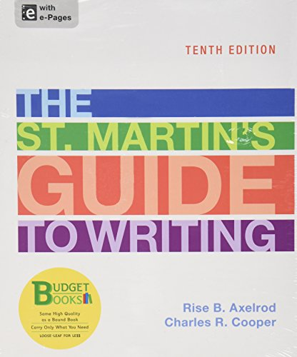 9781457664700: Loose-leaf Version of The St. Martin's Guide to Writing 10e & LearningCurve Solo (Access Card)
